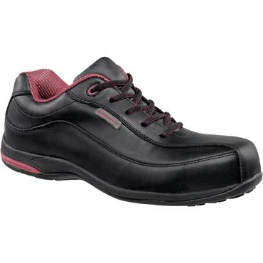 LH Safety Cannes Leather Black Ladies Safety Shoes
