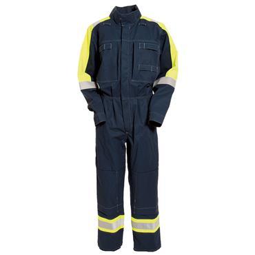 Tranemo 5716 88 Cantex 57 Flame Retardant Boilersuit - Navy/Yellow