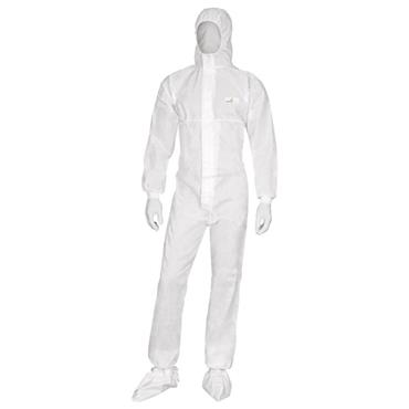 Delta Plus DT221 Deltatek 6000 Hooded Disposable Coverall - White