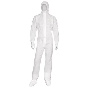 Delta Plus DT215 Non-Woven Hooded Disposable Overall - White