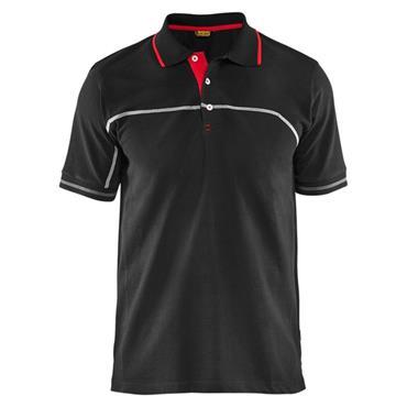 Blaklader 3389 Pique Polo Shirt - Black/Red