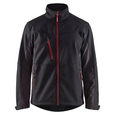 Blaklader 4950 Unite Softshell Jacket - Black/Red