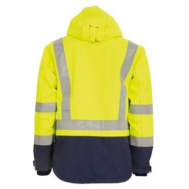 Tranemo 4801 High-Visibility Waterproof Winter Jacket - Yellow/Navy