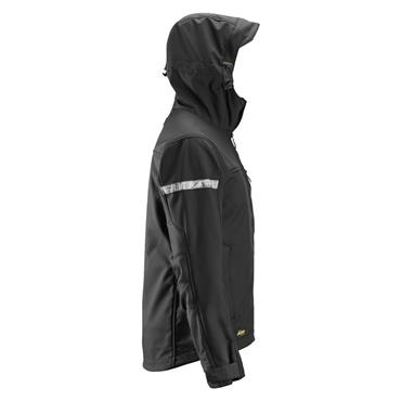 Snickers 1229 AllroundWork Softshell Jacket with Hood - Black