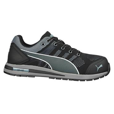Puma Elevate Knit Low S1P ESD HRO SRC Black/Grey Safety Shoes