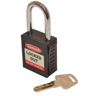 Citec Safety Lockout Padlock - Black