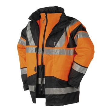 SIOEN 209A Skollfield 4-in-1 Hi-Vis Jacket Orange/Navy