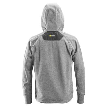 Snickers 8041 FlexiWork Fleece Hoodie - Grey/Black