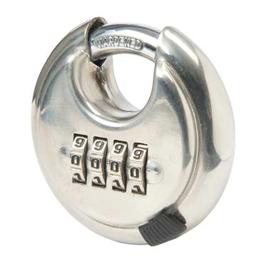 Citec Stainless Steel Combination Disc Padlock 4-Digit