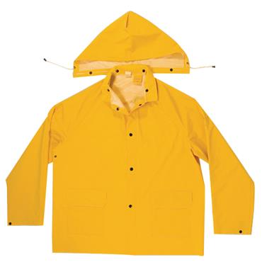Custom Leathercraft R101 3 Piece Heavyweight PVC Rain Suit - Yellow