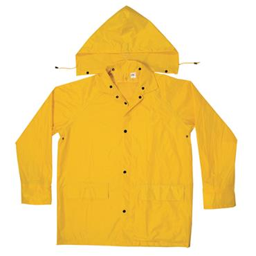 Custom Leathercraft R102 3 Piece Medium-Weight Polyester Rain Suit - Yellow