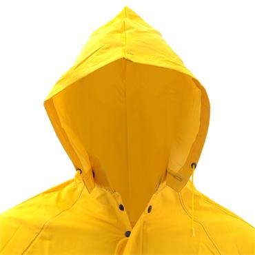 Custom Leathercraft R105 2 Piece Heavyweight PVC Trench Coat - Yellow
