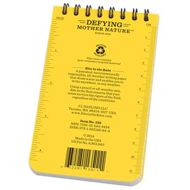Rite in the Rain 135 Yellow All-Weather Universal Spiral Notebook