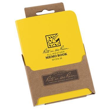 Rite in the Rain 374-M Yellow All-Weather Universal Memo Notebook
