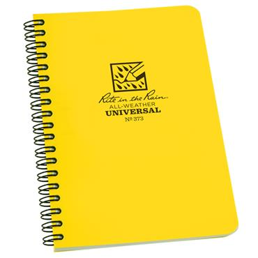 Rite in the Rain 373 Yellow All-Weather Universal Side Spiral Notebook