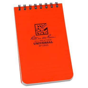 Rite in the Rain OR35 Orange All-Weather Universal Spiral Notebook