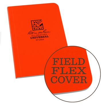 Rite in the Rain OR54 Orange All-Weather Universal Memo Notebook