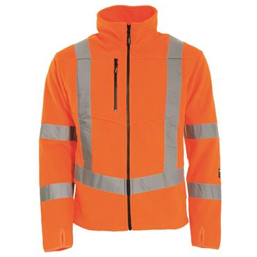 Tranemo 483151 High-Visibility Fleece Jacket - Orange
