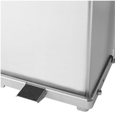 Rubbermaid Defenders Stainless Steel Square Step Can