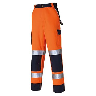 Dickies SA30035 Industry 300 High-Visibility Trousers - Orange/Navy