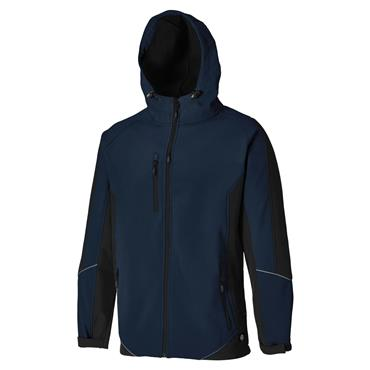 Dickies JW7010 Two Tone Softshell Jacket - Navy Blue/Black