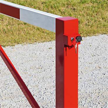Moravia 225.2 Red/White Cylinder Lock Swing Barriers