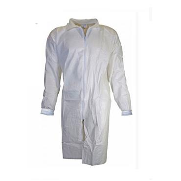 CHEMSPLASH 2649 Labcoat Zip Fastening Knitted Cuffs