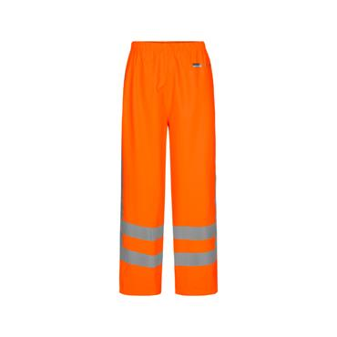 LYNGSOE LR55 Hi Vis Rainwear Trousers Orange