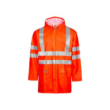 LYNGSOE LR55 Hi Vis Rain Jacket Orange