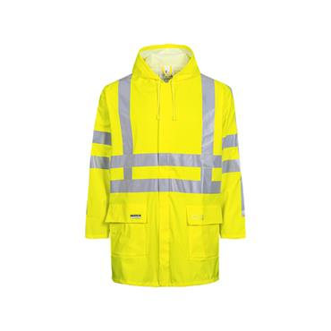 LR55 Hi Vis Rain Jacket Yellow