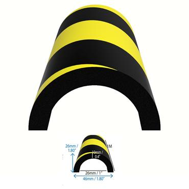 DuraStripe Half Circle Pipe Bumper Guard