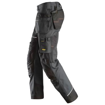 SNICKERS WORKWEAR Snickers 6214 RuffWork Canvas Work Trousers Steel Grey/Black