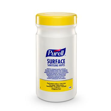 PURELL® GJ95104-06 Surface Sanitising Wipes 200 Canister