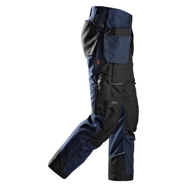 Work Trousers Holster Pockets FREE BELT 6202 Snickers Petrol Blue RuffWork