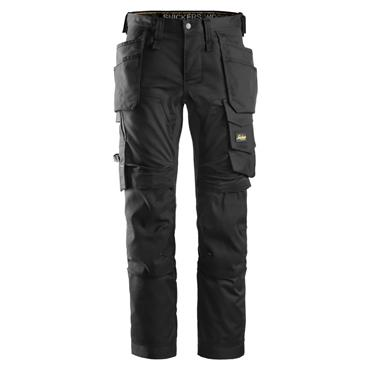 Snickers 6241 AllroundWork Stretch Holster Pocket Slimfit Trousers - Black