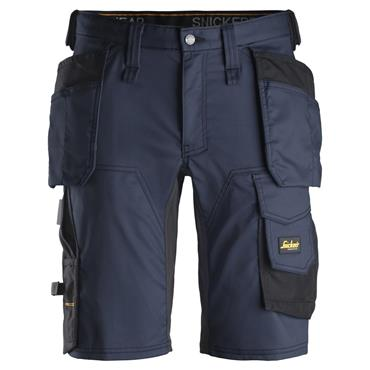 Snickers 6141 AllroundWork Holster Pockets Stretch Shorts - Navy/Black