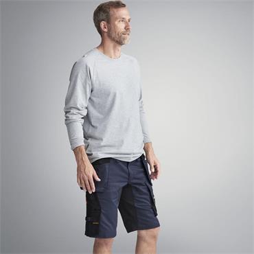Snickers 6141 AllroundWork Holster Pockets Stretch Shorts - Navy/Black
