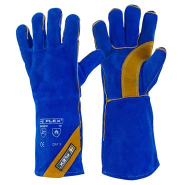 CITEC BFHQW Royal Blue Split Leather Gauntlet
