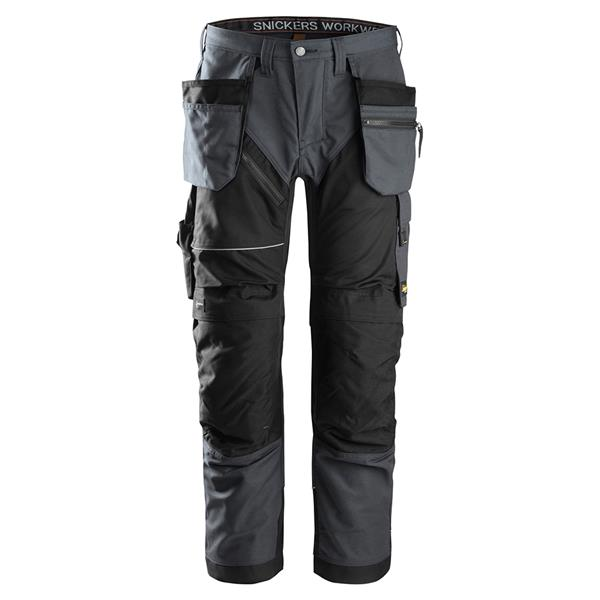 Snickers  RuffWork 6202 Work Trousers Holster Pockets Steel Grey