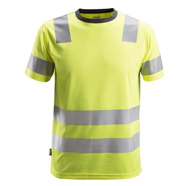 Snickers 2530 AllroundWork Class 2 High-Visibility T-Shirt - Yellow