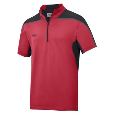 Snickers 2716 A.V.S Body Mapping Polo Shirt - Chili Red/Black