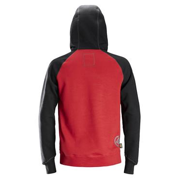Snickers 2889 AllroundWork Logo Hoodie - Chili Red/Black