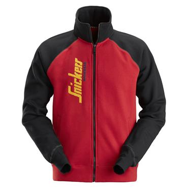 Snickers 2887 Logo Full Zip Jacket - Chili Red/Black