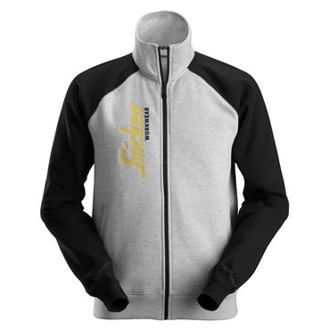 Snickers 2887 Logo Full Zip Jacket - Grey Melange/Black