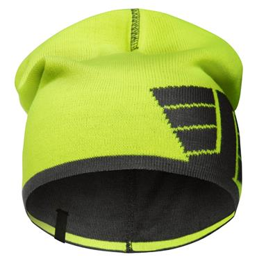 Snickers 9015 High Vis Yellow\Steel Grey - 6658 Reversible Beanie One Size