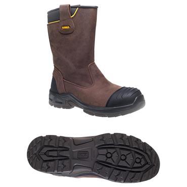 DeWALT Millington S3 Waterproof Brown Safety Rigger Boots