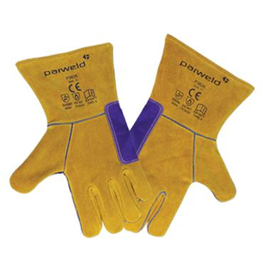 Parweld P3826 Double Kevlar Cow Split Leather Reversible Gloves
