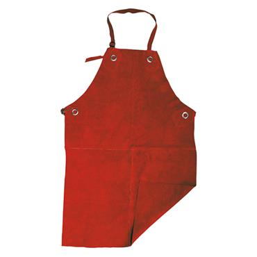 Parweld P3720 Heavy-Duty Leather Apron with Ties - Red
