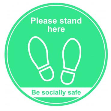 "Citec  ""PLEASE STAND HERE"" Floor Signs- Various Colours available - 400m"