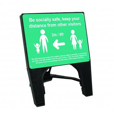 """Citec """"BE SOCIALLY SAFE"""" Q Sign - Turquoise"""
